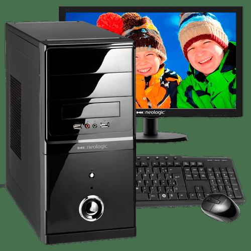 Desktop Neologic Nli43543 I7-4790 3.60ghz 8gb 500gb Intel Hd Graphics 4600 Linux Com Monitor