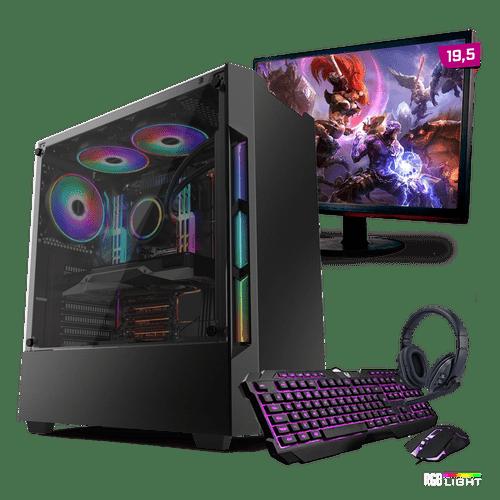 Kit PC Gamer Neologic Start NLI81427 Ryzen 3 2200G 8GB ( Radeon Vega 8 Integrado) SSD 480GB Monitor 19,5