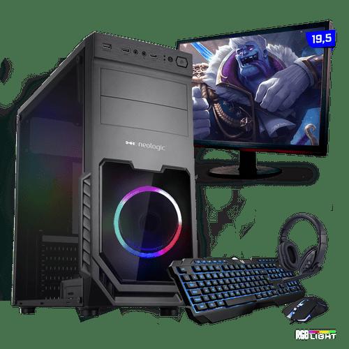 Kit PC Gamer Neologic Start NLI81428 Ryzen 3 2200G 8GB ( Radeon Vega 8 Integrado) 1TB Monitor 19,5